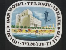 Hotel label luggage labels baggage ISRAEL very RARE #20